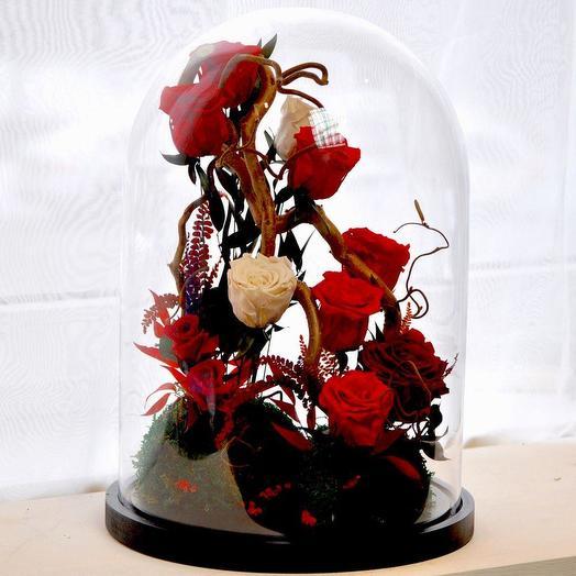 """КОМПОЗИЦИЯ СТРАНА ЧУДЕС"""" РОЗЫ СТАБИЛИЗИРОВАННЫЕ: букеты цветов на заказ Flowwow"""