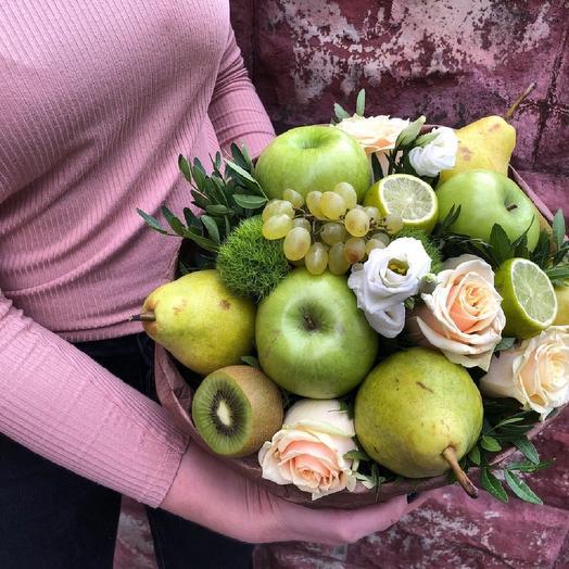 "Фруктовый букет ""Лаймовый пунш"": букеты цветов на заказ Flowwow"