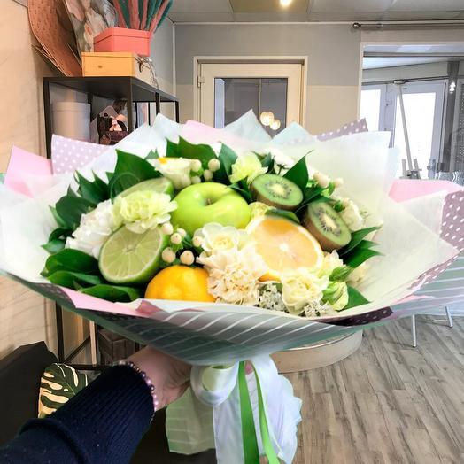 Фруктово-цветочное настроение: букеты цветов на заказ Flowwow