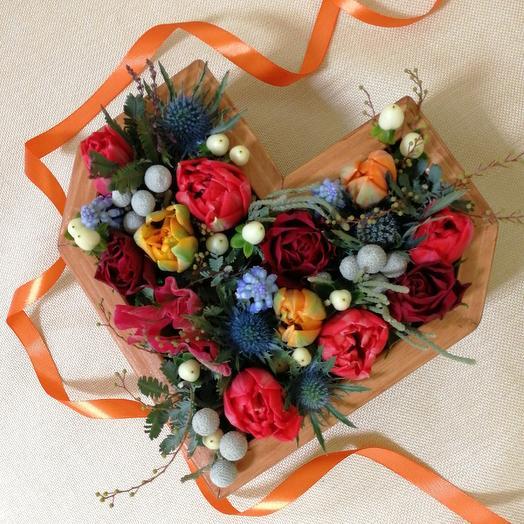 Сердце строптивое: букеты цветов на заказ Flowwow