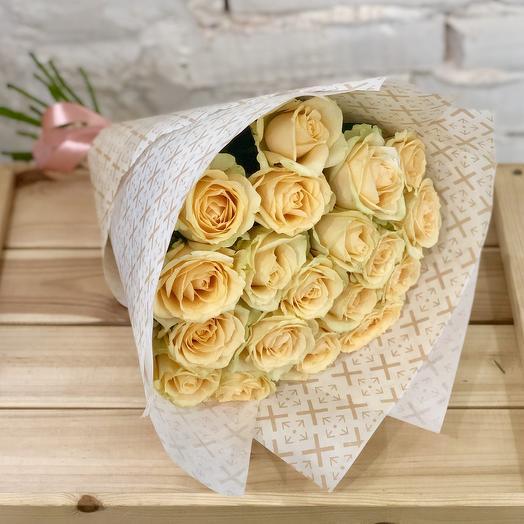 Bouquet of peach roses Peach Avalanzh