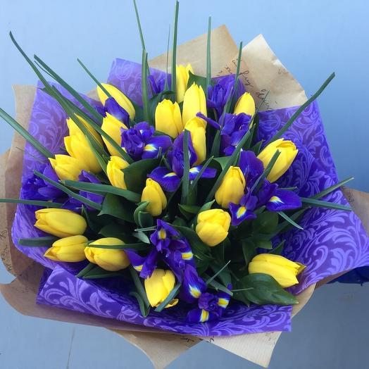 Ирисы-Тюльпаны: букеты цветов на заказ Flowwow