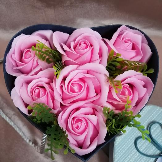 Хит 2019. Коробочка мыльных роз: букеты цветов на заказ Flowwow