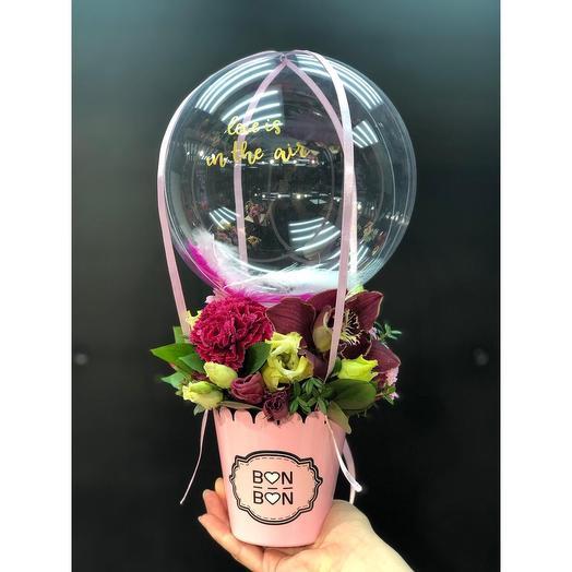 Композиции с стеклянным шариком Баблз мини: букеты цветов на заказ Flowwow