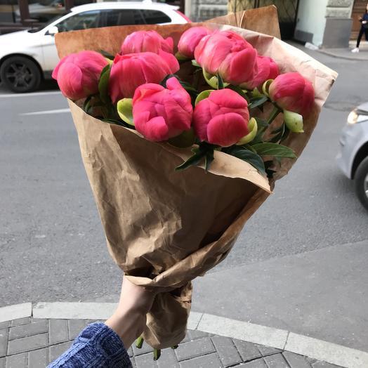 Огромные коралловые пионы для моей принцессы: букеты цветов на заказ Flowwow