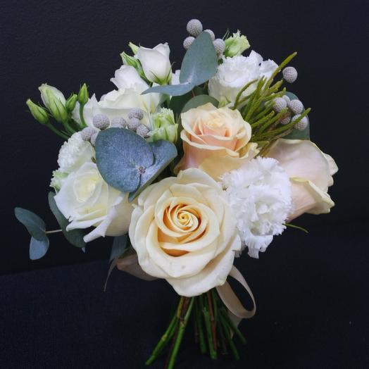 Кремовая свадьба: букеты цветов на заказ Flowwow