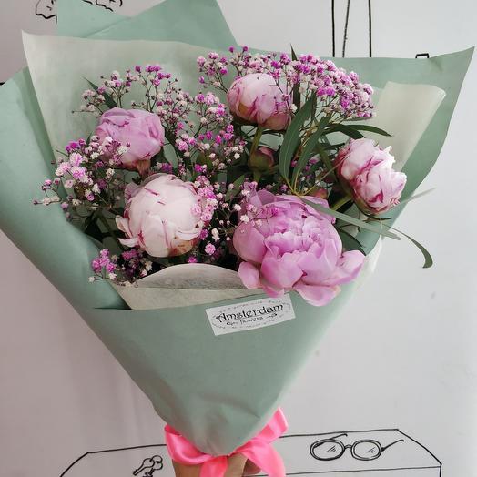Летние пионы: букеты цветов на заказ Flowwow