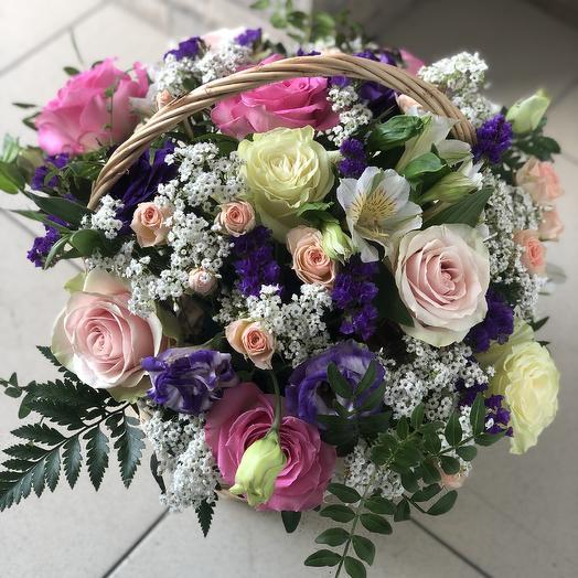 Нежнейшая корзина: букеты цветов на заказ Flowwow