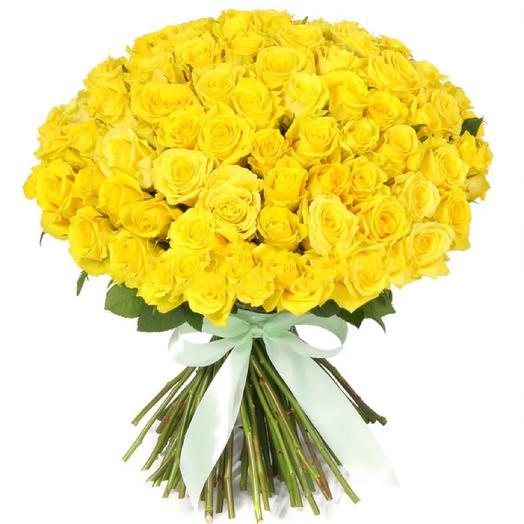 Розы Кения солнечные 51: букеты цветов на заказ Flowwow