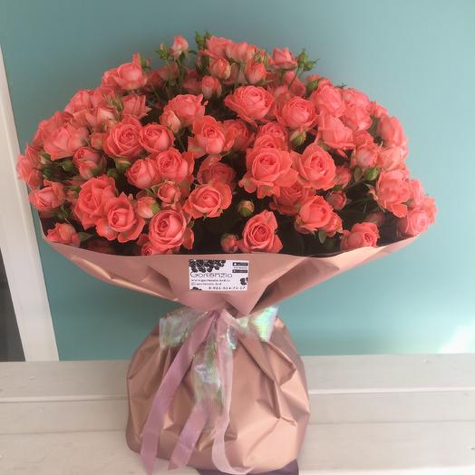 Bouquet of Bush roses varieties Barbados