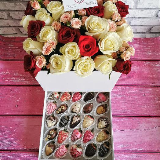 Шкатулка СЮРПРИЗ L: букеты цветов на заказ Flowwow