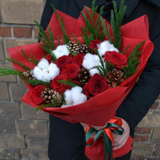 Розы в снегу: букеты цветов на заказ Flowwow