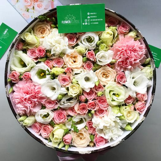 Delicate floral box: flowers to order Flowwow