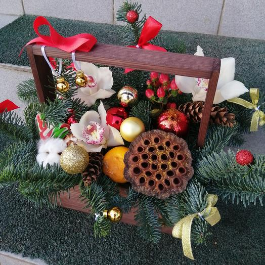 Christmas box: flowers to order Flowwow