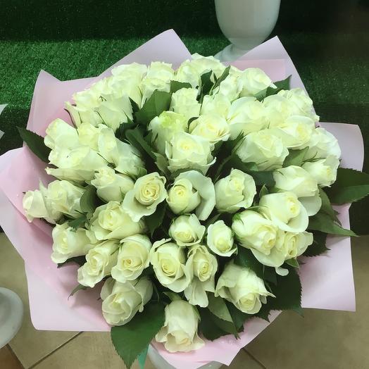 Букет из 51 розы «Кения» 42 см