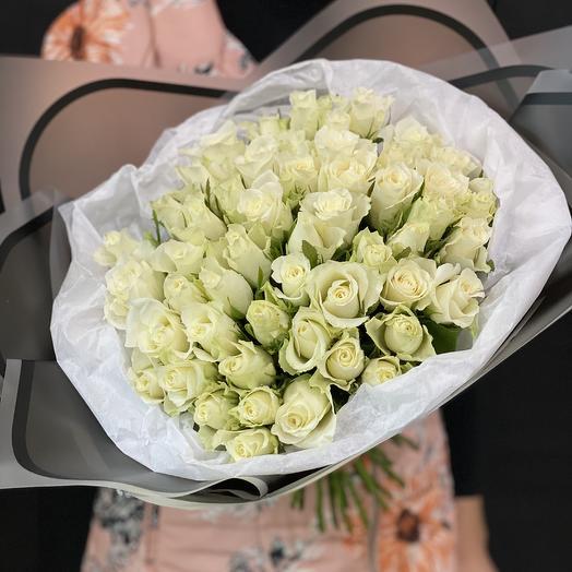 Авторский 51 роза: букеты цветов на заказ Flowwow