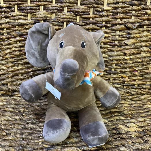 Мягкая игрушка слон: букеты цветов на заказ Flowwow