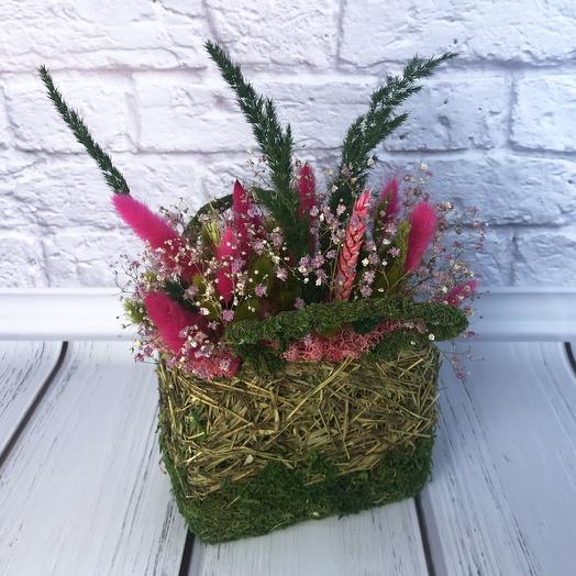 Композиция в корзинке «Алиса»: букеты цветов на заказ Flowwow