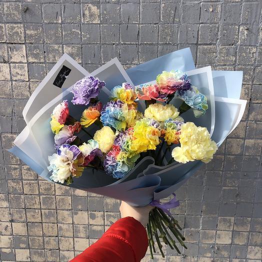 Радужный букет: букеты цветов на заказ Flowwow