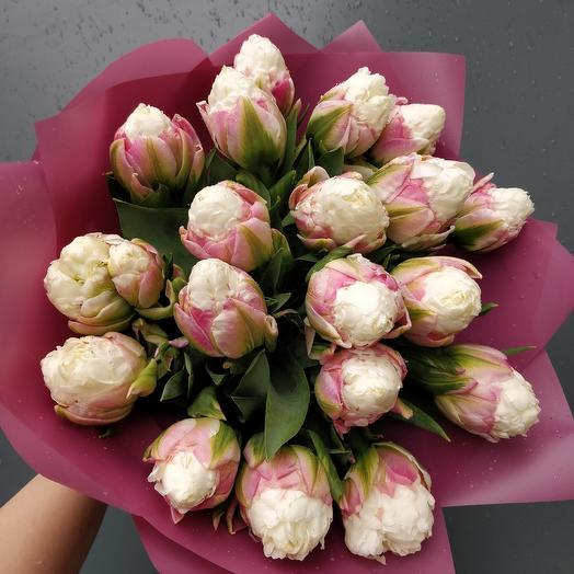 Тюльпаны Мороженое: букеты цветов на заказ Flowwow