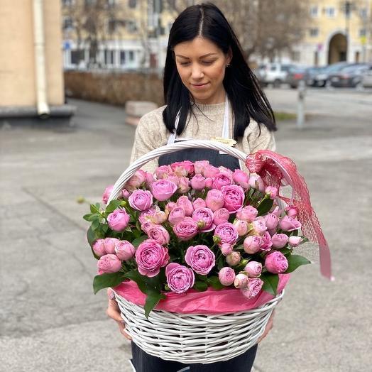 Моно Кустовой пионовидной Розы