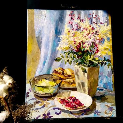 """Картина """"Натюрморт с полевыми цветами"""": букеты цветов на заказ Flowwow"""