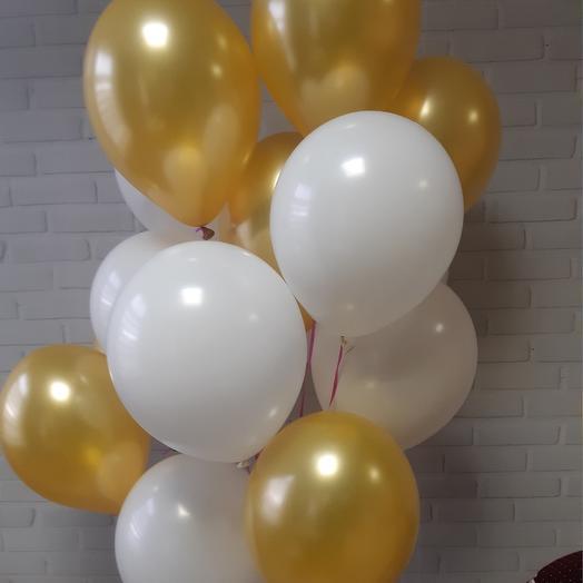 """Воздушные шары """" Белое золото"""": букеты цветов на заказ Flowwow"""