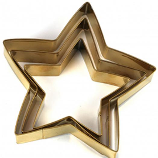 Сет формочек для печенья в виде звезды