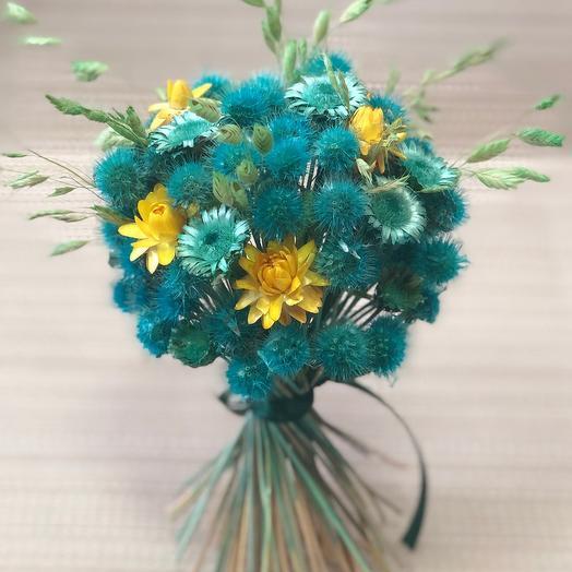 Букета сухоцветов Изумруд