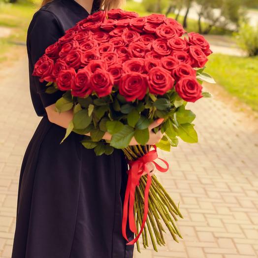 Букет из 51 красной розы  Премиум
