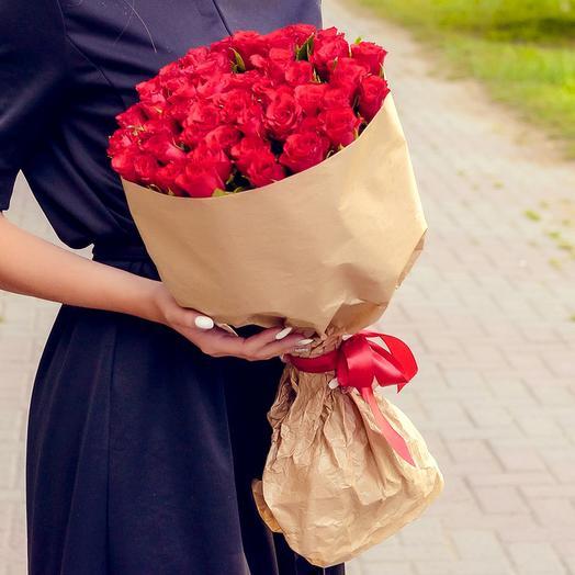 Кенийская красавица 51 роза