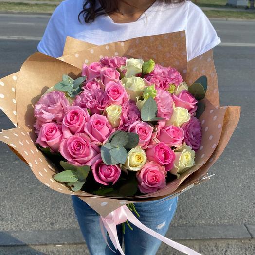 Букет « Розовое счастье»