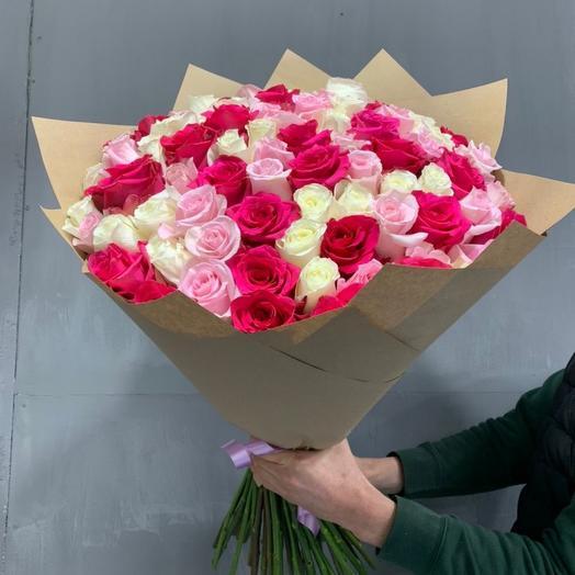 Роза 75 микс