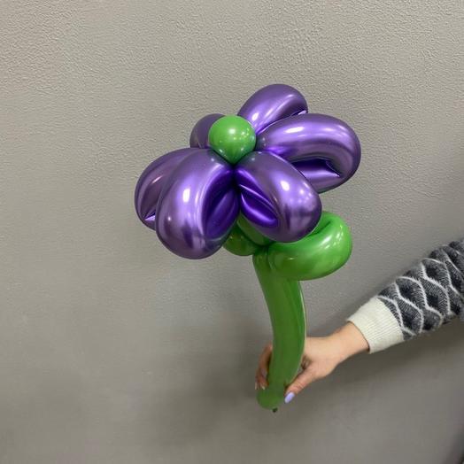 Цветок из шаров «Фиолетовый хром»