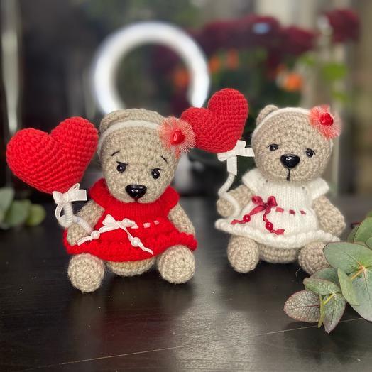 Подарочный набор Мишки с сердечком игрушка