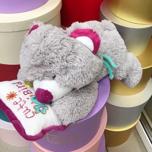 Игрушка мягкая Медвеженок с подушкой