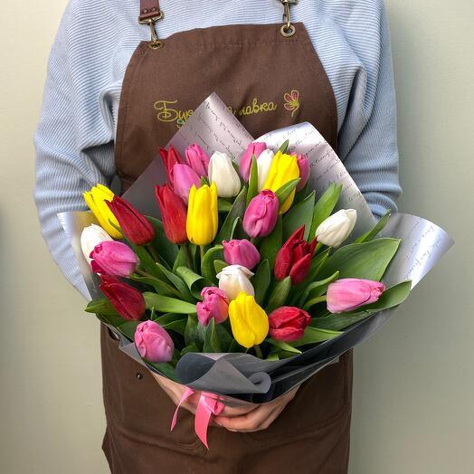 Bouquet of 25 tulips
