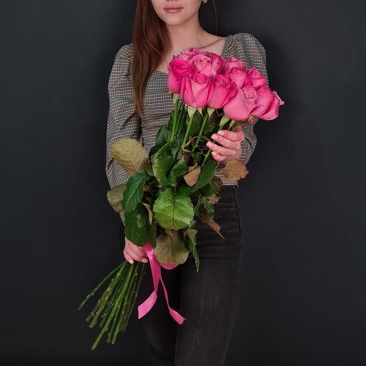Длинные розы 🌹15 роз 70 см All for love 💘
