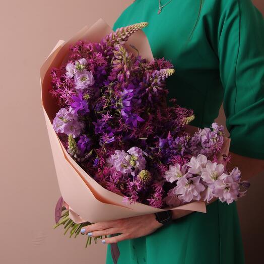 Фиолетовый букет