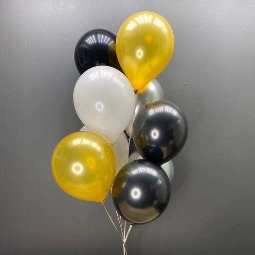 9 гелиевых шаров