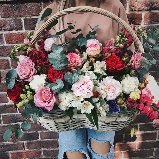 Корзина  Летний сад: букеты цветов на заказ Flowwow