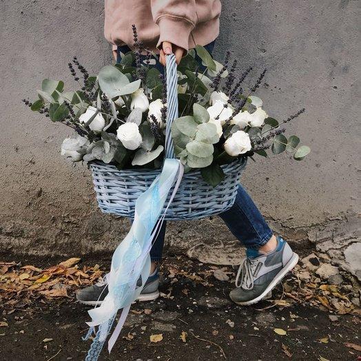 "Корзина ""Небесный сон"": букеты цветов на заказ Flowwow"