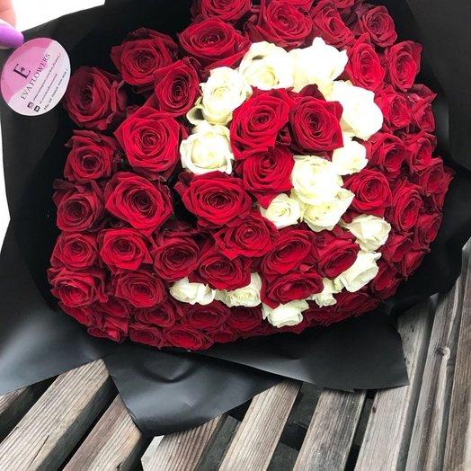 Буква или цифра из роз: букеты цветов на заказ Flowwow