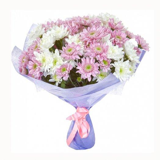 11 кустовых хризантем. Код 180040