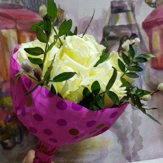 Букетик из роз: букеты цветов на заказ Flowwow