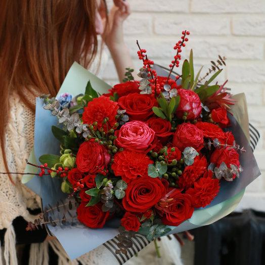 Букет Большой бокал красного: букеты цветов на заказ Flowwow