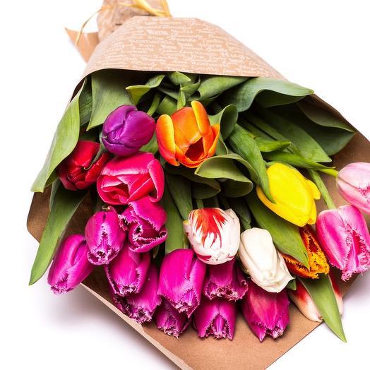 Букет тюльпанов Микс: букеты цветов на заказ Flowwow