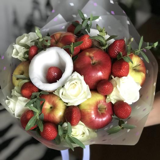 Фруктовый букет «микс»: букеты цветов на заказ Flowwow