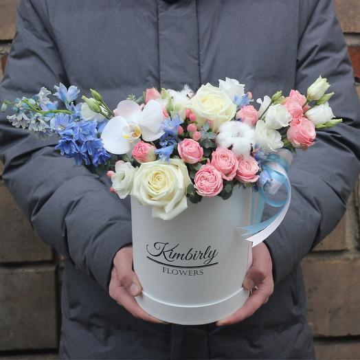 Авторская нежная коробочка: букеты цветов на заказ Flowwow