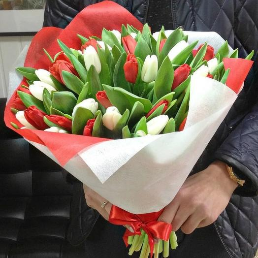 Микс тюльпанов: букеты цветов на заказ Flowwow
